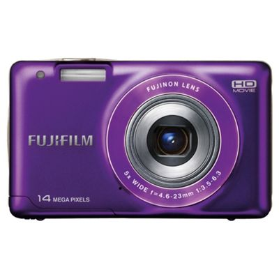Fujifilm FinePix JX500 Digital Camera, Purple, 14MP, 5x Optical Zoom, 2.7 inch LCD Screen