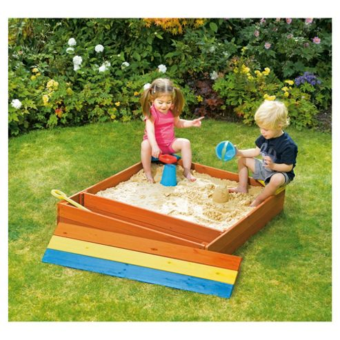Plum Wooden Sandpit with Storage