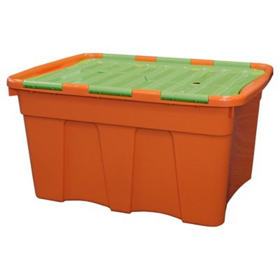 54 L Croc Box Orange with Lime Lid