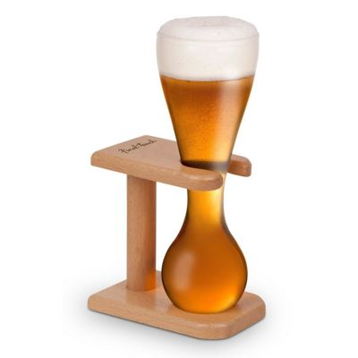 Final Touch Quarter Yard Beer Glass and Stand