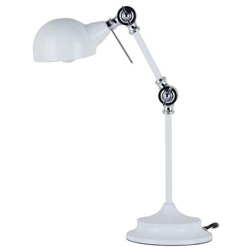 Tesco Lighting Alfie Desk Lamp, White