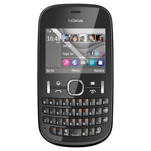 Tesco Mobile Nokia Asha 201 Charcoal