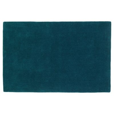 Tesco Rugs Plain Wool Rug 160 x 230cm, Teal