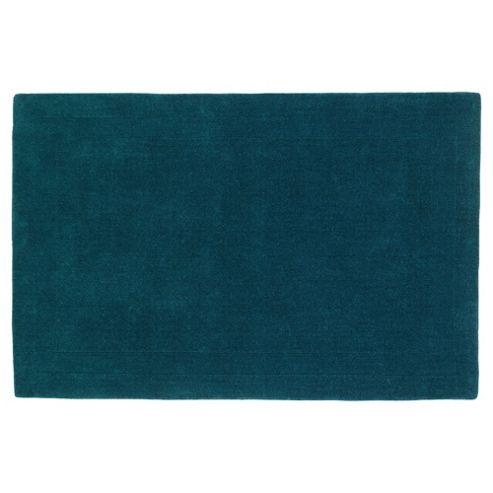 Tesco Rugs Plain Wool Rug 160 x 230cm, Teal