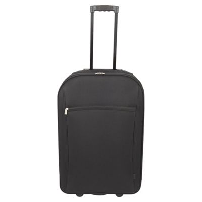 Tesco London 2 Wheel Black Large Suitcase