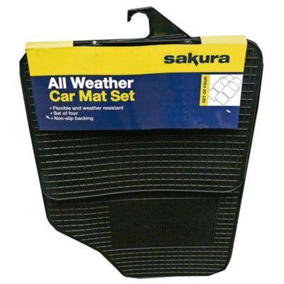 Sakura SS3600 All-Weather Universal Car Mats, 4 Set