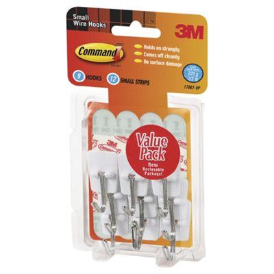 Utensil Hooks With Command™ Strips Value Pack (9 Hooks, 12 Small Strips)