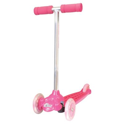 Ozbozz Steer and Scoot 3-Wheel Scooter, Pink