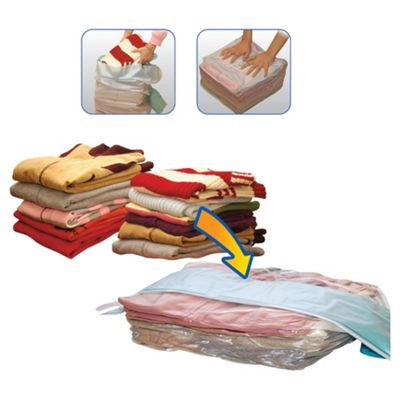 Tesco Hand Press Clothes Vac Bag