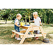 Plum Surfside Sand Pit and Water Wooden Picnic Table
