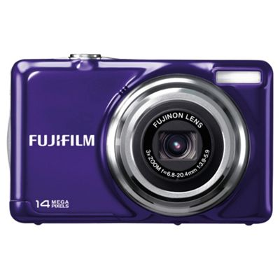 Fujifilm FinePix JV300 Digital Camera, Purple, 14MP, 3x Optical Zoom, 2.7 inch LCD Screen