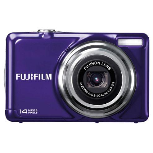 Fujifilm FinePix JV300 Digital Camera, Purple, 14MP, 3x Optical Zoom, 2.7 inch LCD Screen