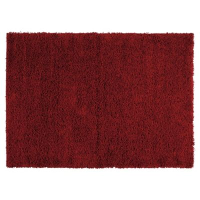 Tesco Rugs Alpine Shaggy Rug Red 80X150Cm