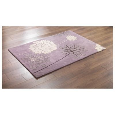 Tesco Rugs Meadow Rug Mauve 150X240Cm