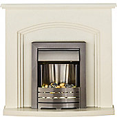 Adam Truro Cream Electric Fireplace Suite with Helios