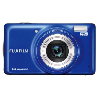 Fujifilm FinePix T350 Digital Camera, Blue, 14MP, 10x Optical Zoom, 3.0 inch LCD Screen