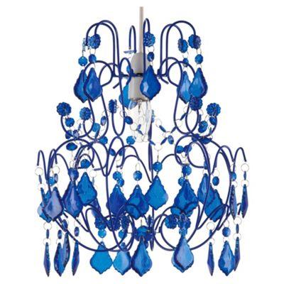 Tesco Lighting Olivia Chandelier Pendant - Reflex Blue