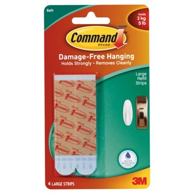 Command Water Resistant Large Mounting Strips