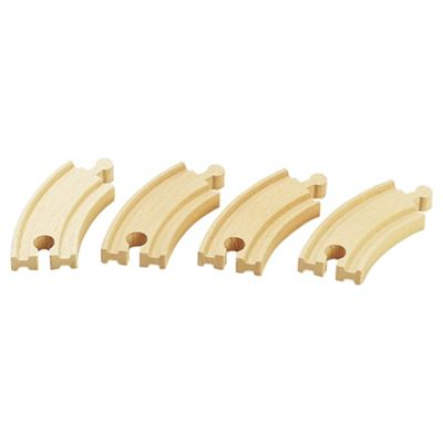 Brio Short Curved Tracks Wooden Toy