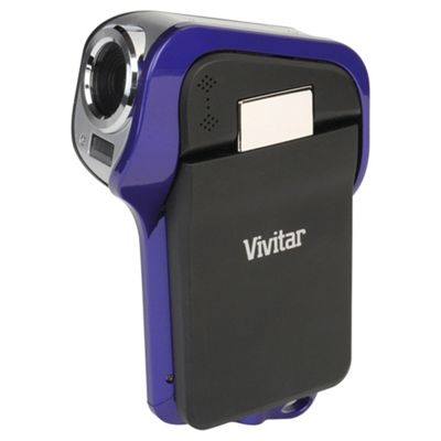 Vivitar DVR995WHD Waterproof Camcorder, Purple
