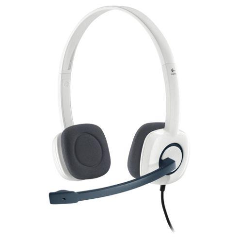 Logitech H150 Ear PC Headset & Microphone White