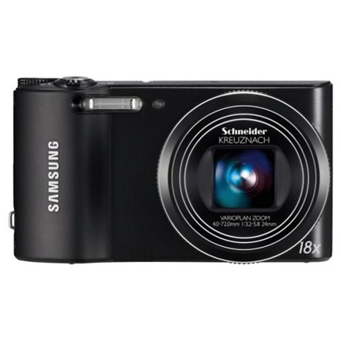 Samsung WB150 Black Digital Camera, 14.1 MP, 18x Optical Zoom, 3