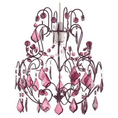 Tesco Lighting Olivia Chandelier Pendant - Plum