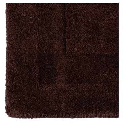 Tesco Plain Wool Runner 70 x 200cm, Chocolate
