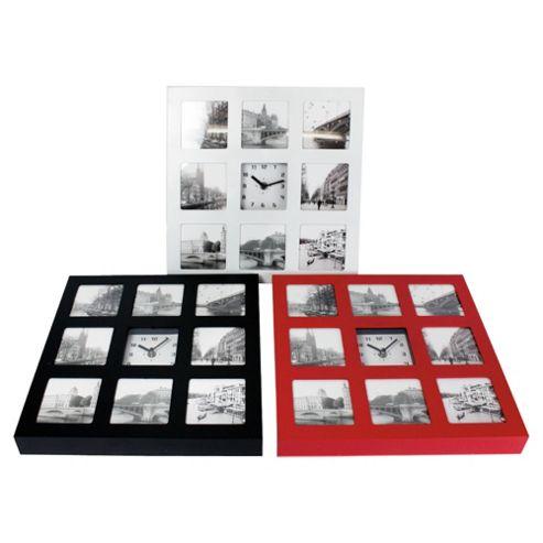 8 Photo & Clock P/Frame 31X31