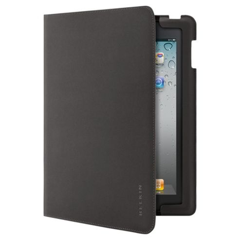 Belkin leather folio case for the new Apple iPad & iPad 2, Black