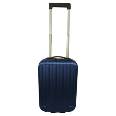 Tesco Hard Shell 2-Wheel Suitcase, Blue Small
