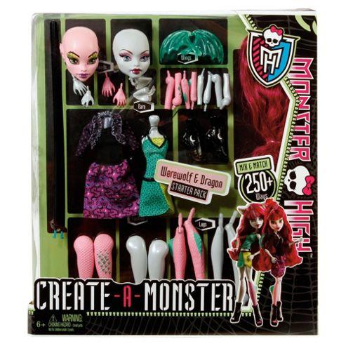 Monster High Create A Monster Starter Pack Werewolf / Dragon