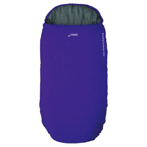 Gelert Bigabag Junior Sleeping Bag, Purple