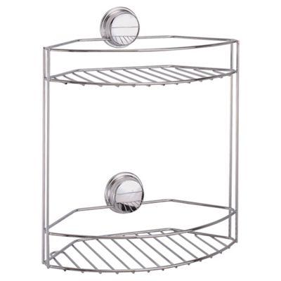 Croydex Stick 'n' Lock Two Tier Storage Basket