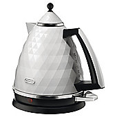 DeLonghi Brillante Jug kettle , 1.7L - White