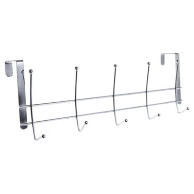 Stainless Steel 5 Over Door Coat Hooks