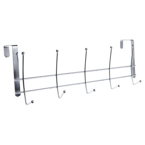 Stainless Steel 5 Over Door Coat Hooks