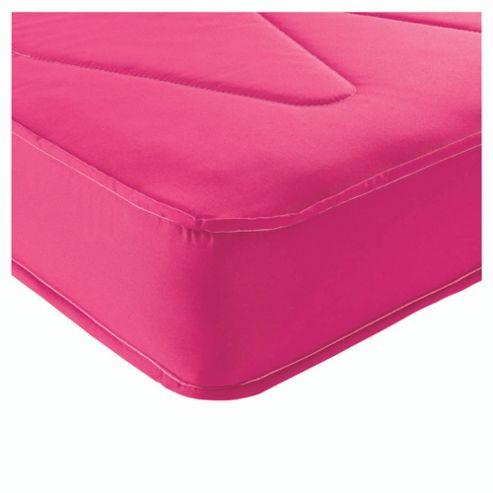 Airsprung Single Mattress, Essentials Kids Waterproof Anti Dust, Pink