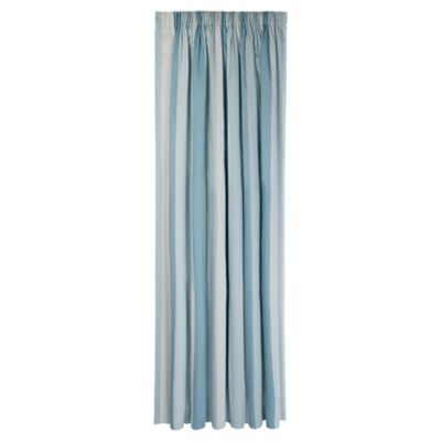 Tesco Hampton Stripe Unlined Pencil Pleat Curtains W167xL183cm (66x72