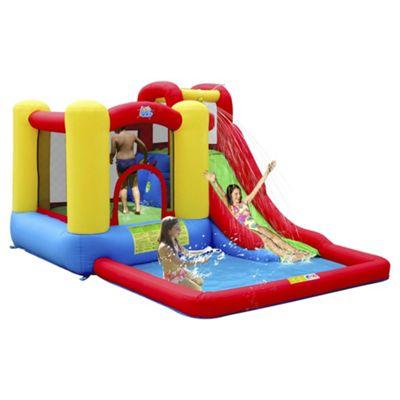 Buy jump splash adventure zone bouncy castle pool from for Garden pool tesco