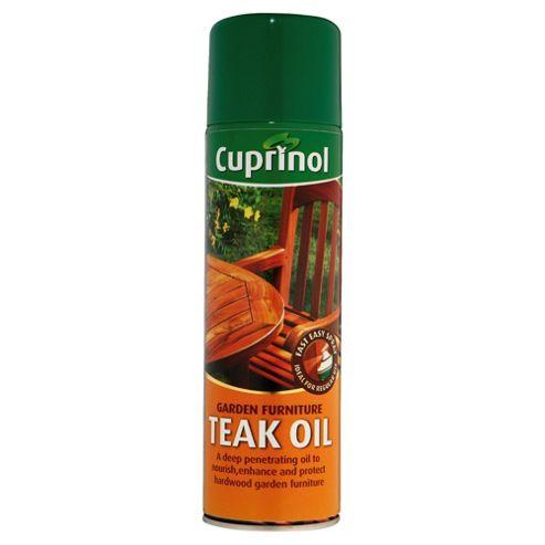 Cuprinol Garden Furniture  6 times Strengh Teak Oil Aerosol 0.5L