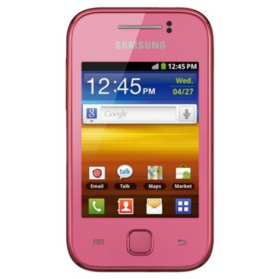 Tesco Mobile Samsung Galaxy Y Pink