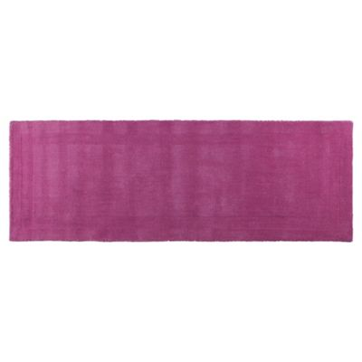 Tesco Plain Wool Runner 70 x 200cm, Fuchsia
