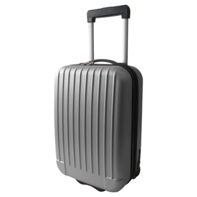 Tesco Hard Shell 2-Wheel Suitcase, Grey Small