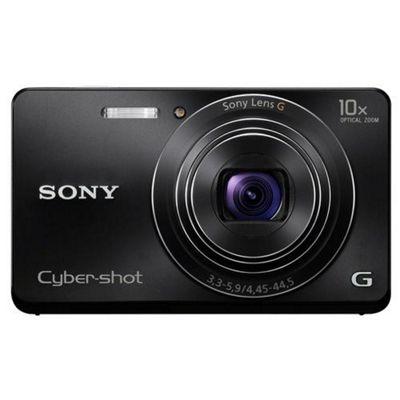 Sony Cyber-shot DSC-W690 16.1MP Digital Camera - Black.