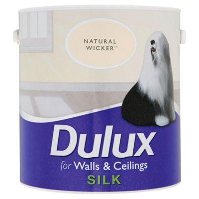 Dulux Silk Emulsion Paint, Natural Wicker, 2.5L