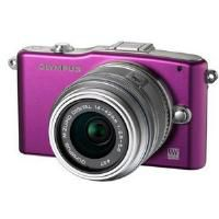 Olympus PM1 Purple Compact System Camera with 14-42mm Lens Kit
