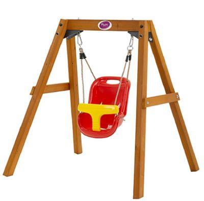 Plum Wooden Baby Swing Set
