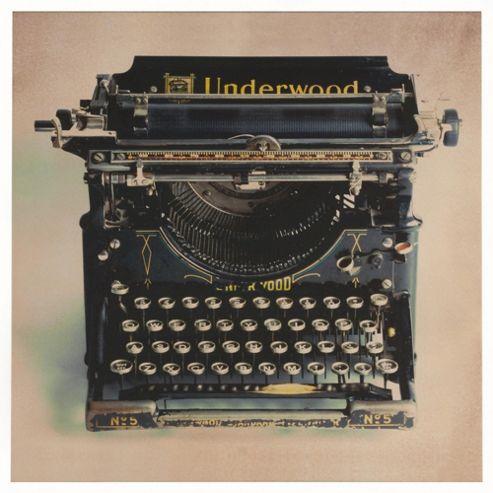 Antique Typewriter Canvas