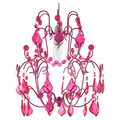 Buy Tesco Lighting Olivia Chandelier Pendant - Pink from our ...